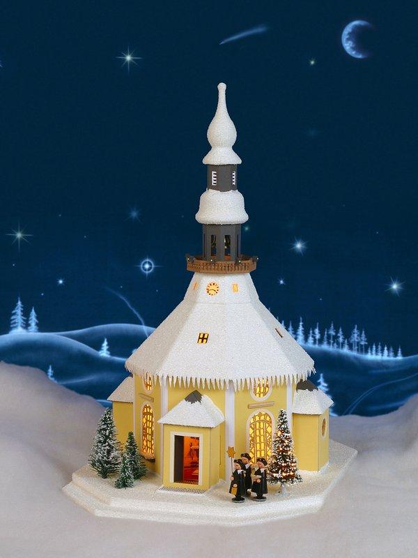 Seiffener Kirche mit Weihnachtsbaum 109