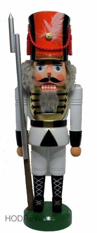 Nussknacker Soldat weiß HODREWA - 43cm