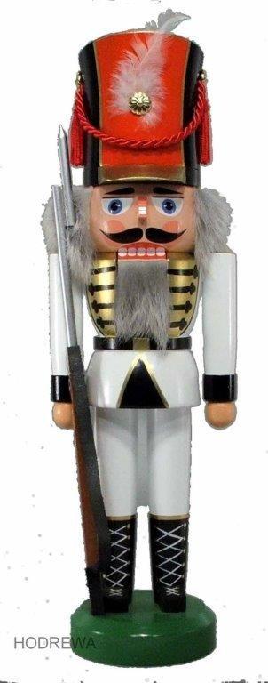 Nussknacker Soldat weiß HODREWA - 39cm
