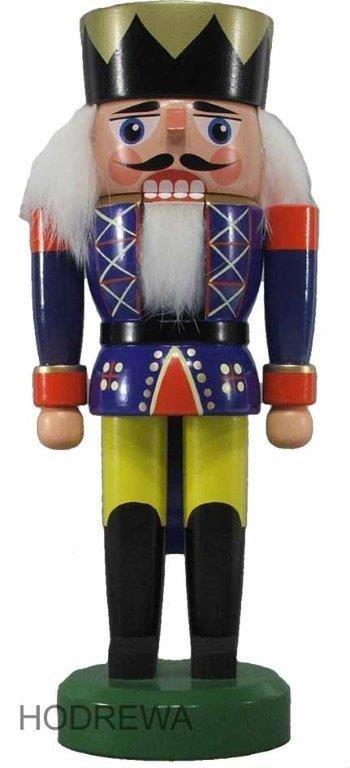 Nussknacker König blau HODREWA - 21cm