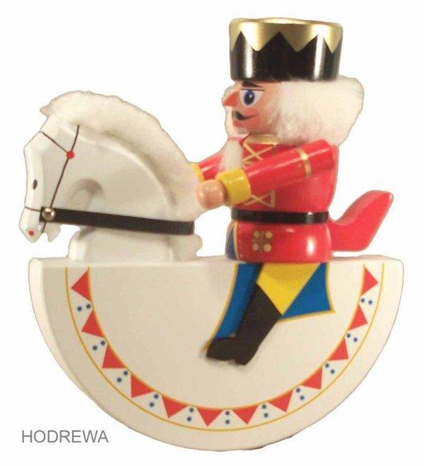 Olbernhauer Reiterlein König Nussknacker  HODREWA - 19cm