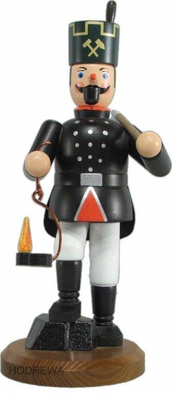 Räuchermann Bergmann mit Lampe und Hacke HODREWA - 21cm