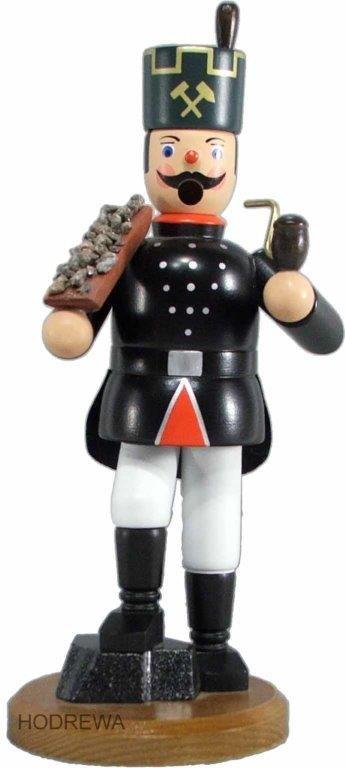 Räuchermann Bergmann mit Erzschale HODREWA - 21cm