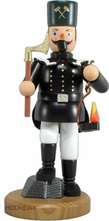 Räuchermann Sächsischer Bergmann in Paradeuniform mit Knickbein HODREWA - 22cm
