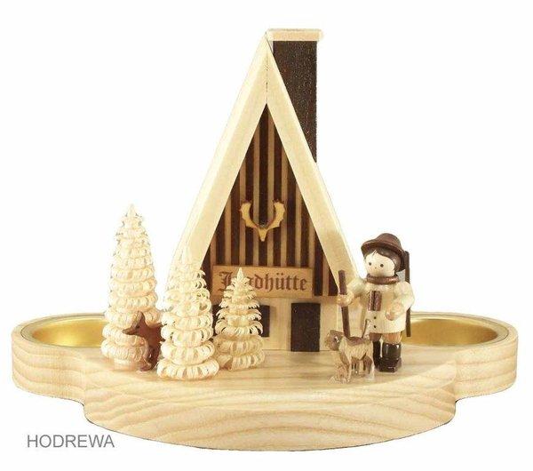 Rauchhaus Jagdhütte mit Teelicht HODREWA - 12cm