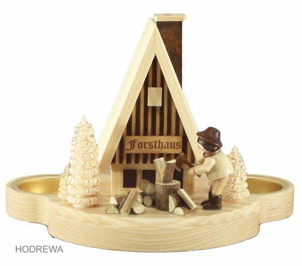 Rauchhaus Forsthaus mit Teelicht HODREWA - 12cm