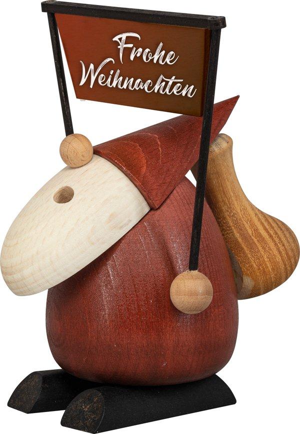 """Räucherfigur """"Weihnachtsmann - Frohe Weihnachten"""" SAICO - 11cm"""