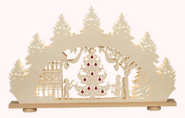 """XXL-3D-Lichterbogen """"Weihnachtsbaum mit roten Glaskugeln"""""""