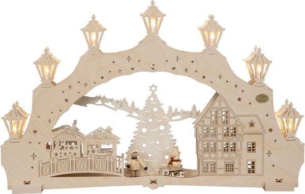 """3D-Lichterbogen """"Weihnachtsbaum"""" mit Figur"""