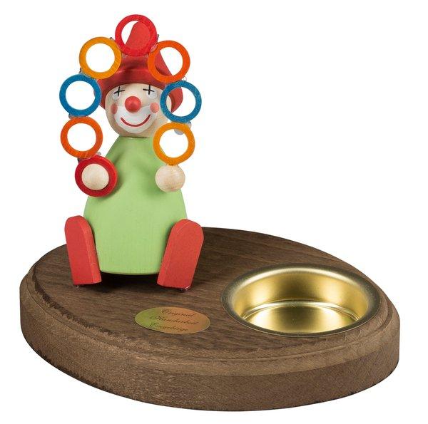 """Leuchter 1 Teelicht """"Clown mit Ringen"""""""