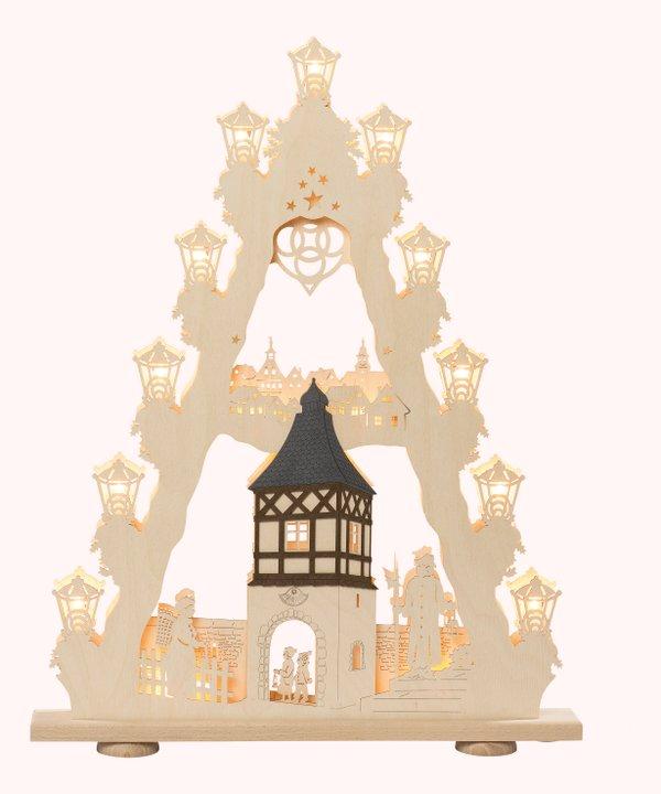 """3D-Lichterspitze """"Burgromantik"""""""