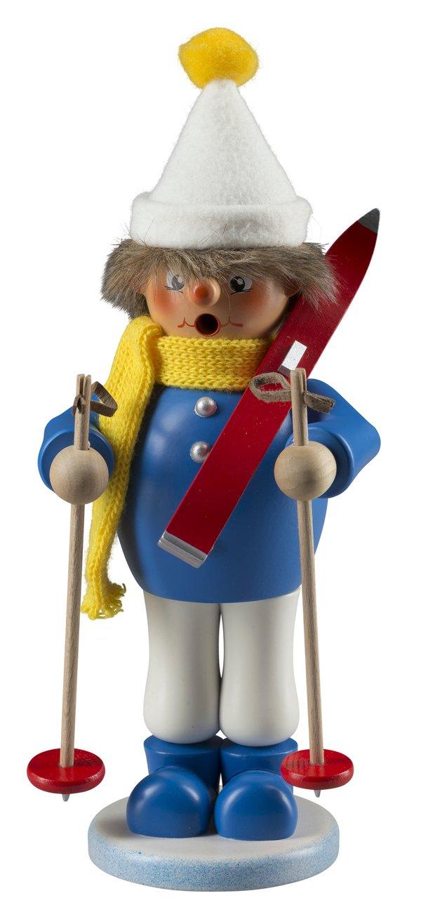 "Räucherfigur ""Junge mit Ski"" SAICO - 23cm"