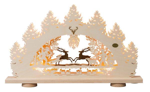 """3D-Lichterbogen """"Springende Hirsche"""""""