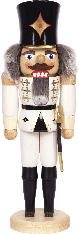 "Nussknacker ""Husar"" weiß SAICO - 36 cm"