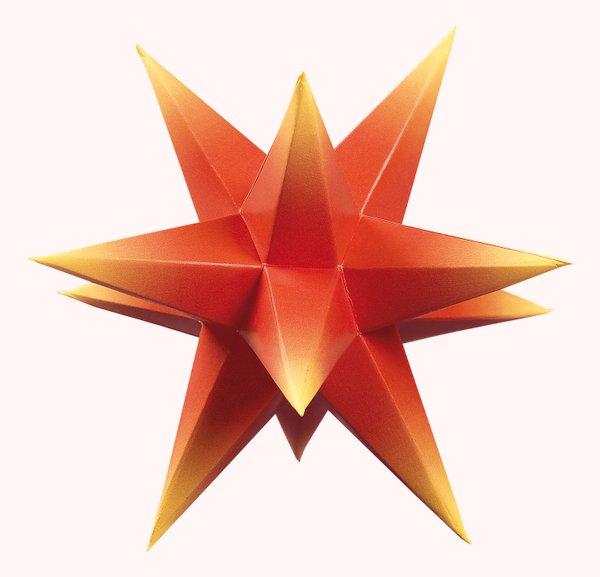 Marienberger Adventssterne 3-Sterne Set rot-gelb