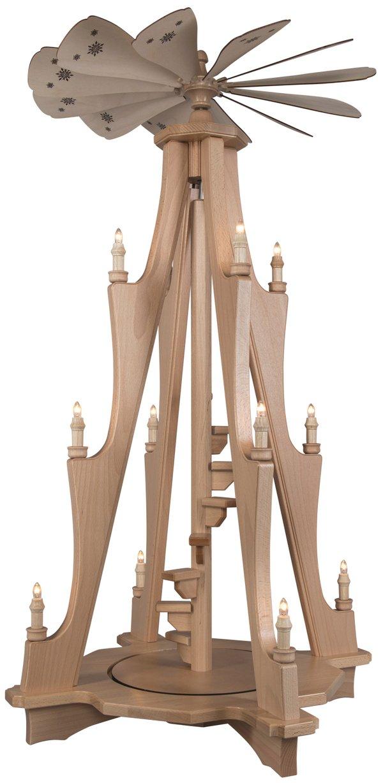 Stufen-Pyramide mit Motor und elektrischer Beleuchtung SAICO - 115cm