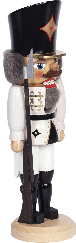 """Nussknacker """"Soldat"""" weiß SAICO - 29 cm"""