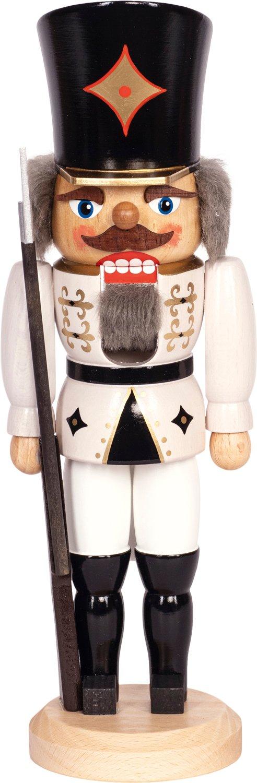 """Nussknacker """"Soldat"""" weiß SAICO - 36 cm"""