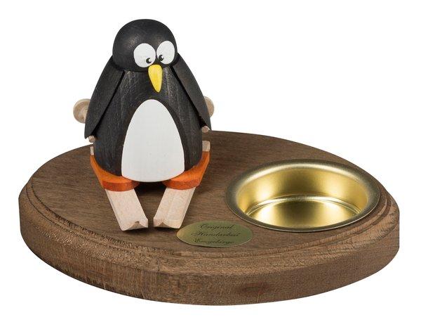 """Leuchter 1 Teelicht """"Pinguin auf Ski"""""""