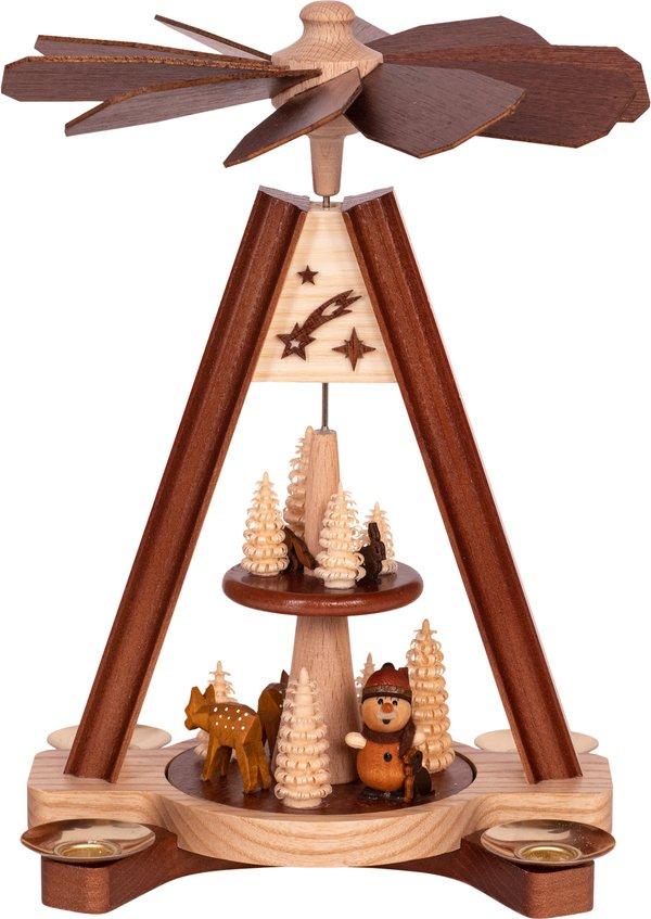 """Premium Tischpyramide 2-stöckig """"Waldwichtel""""  SAICO - 24 cm"""