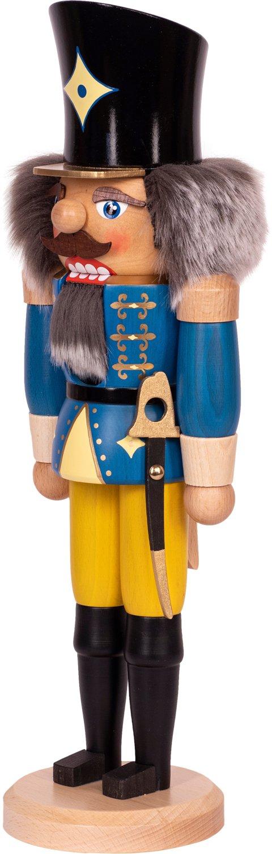 "Nussknacker ""Husar"" blau SAICO - 36 cm"